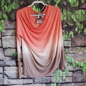 YFB Coral Ombre Long Sleeve Shirt Size Small